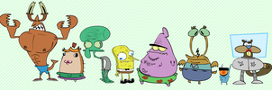 Spomgebob and chums by Moon-manUnit-42