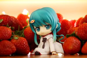 Me or strawberry? by jfonline