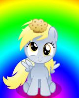 Derpy's First Muffin. by GrimmCheater
