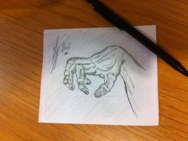 Claw Hand........Pencils by LeeArt-Uk
