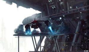 Sci/Fi Hanger concept by Paka3d