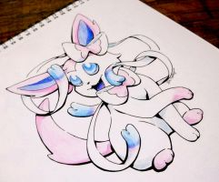 Inktober: Sylveon by ComeAlight