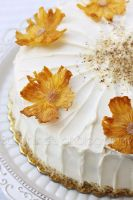 Cake with Pineapple flowers by kupenska