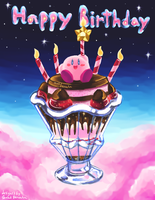 Kirby Parfait Birthday Card by ShadedPenumbra