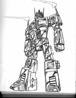 Optimus Prime Stands Tall by RepairBay