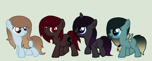 4 Filly Adopts -OPEN- by iiGenerosityii