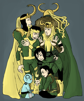 Loki : evolution by LadyNorthstar