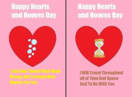 DoctorDerpy Hearts And Hooves Day Cards by RogueHeart101