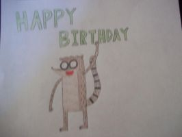 Happy Birthday Card for ~RegularShowCP by Mordecai1423