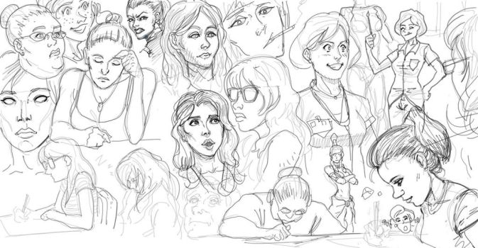 Sketch Page by DamienSaelak