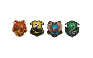 Four Crests - Harry Potter Wallpaper by Juracell