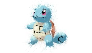 Paint Drip Squirtle by ImpersonatingPanda
