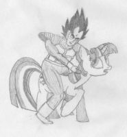 Vegeta and Twilight by Draglord2505