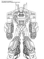 Transformers OC Deez: Design Sheet - front view by wulongti