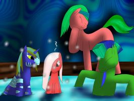 Friends in the spa~! by TheTimeLordMarshal