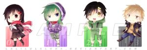 Kagerou Project Keychain Designs (2) by laliluleloha