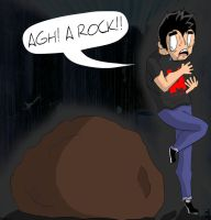 Markiplier Fights A Rock by Orderly-Lemon