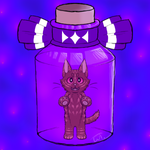 Bottle Cat Adoptable - CLOSE by wolftail1999