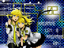 Kagamine Twins by Kureemii