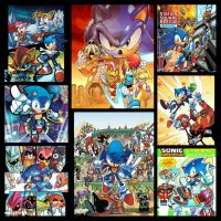 Lamar Wells Archie Sonic comic covers...thus far by trunks24