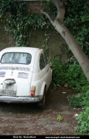 Old white Car STOCK by Neveryph-stock
