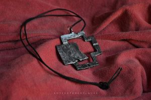 Rammstein logo pendant by AnyShapeNecklaces