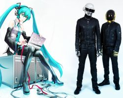 Daft punk and anime by StalkerAE