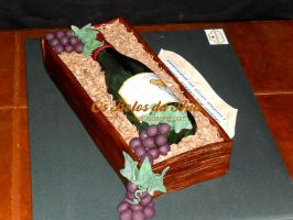Wine Bottle cake by osbolosdaana