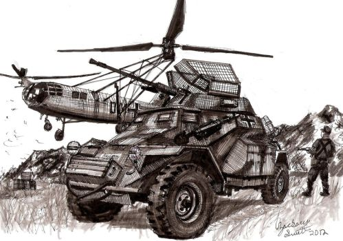 German Sd.Kfz.222 Armored Car by shank117