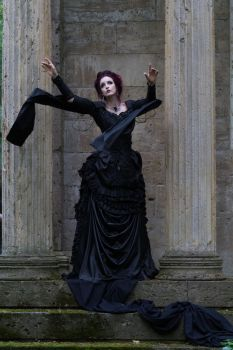 Stock - Victorian gohtic woman magic pose wind by S-T-A-R-gazer