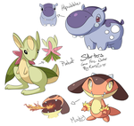 Pokemon starters_Generation 6 by EvilQueenie