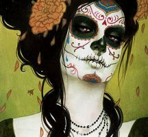 Day of the dead ewe by abbypower