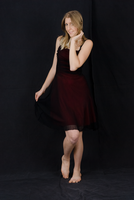 Red and Black Dress Stock by Danika-Stock