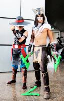Kung Lao and Nightwolf by keruuu