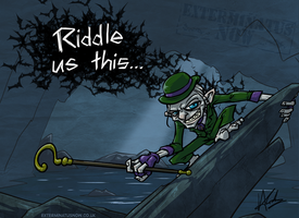 Riddler In The Dark by TheVirusAJG