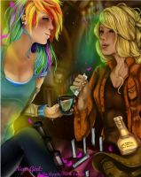 New Girl: Friendly Drinking Contest by Rayna-Crazy