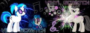 130 - Vinyl S. and Octavia (Vinyl Scratch TEXT) by Ov3rHell3XoduZ
