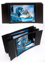 Blue Dragon - Tunnel Book by xiShadowWolfx