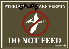 Pterosaurs are vermin sign by caycowa