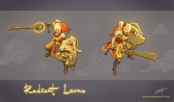 LoL skin concept: Radiant Leona by Shockowaffel