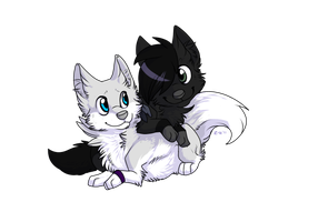 Yuki and Swifty by Zilla-Hearted