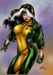 My coloring of Ed Benes Rogue by Romey1973