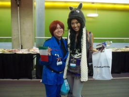 Mika Meets Mari from SMOSH - Fanime 2013 by MikaAlaMode