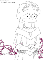 Lisa Simpson Marriage_Lineart by Terrami