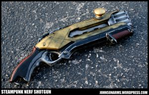 Steampunk Era Shotgun Prop by JohnsonArms