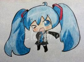 Hatsune miku :3 by Elegency