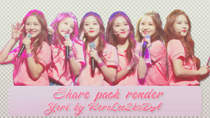 Share pack render #28 Yeri Red Velvet by KeroLee2k