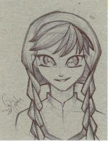 Princess Anna Small Sketch by emceelokey