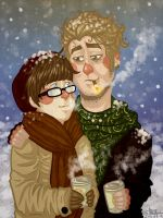 winter bromance by undeadpotato