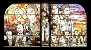 Stained Glass Windows - SPN by nami64